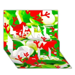 Box Of Frogs  Take Care 3d Greeting Card (7x5)  by essentialimage