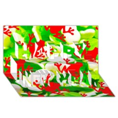 Box Of Frogs  Happy New Year 3d Greeting Card (8x4)