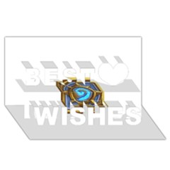 Hearthstone Update New Features Appicon 110715 Best Wish 3d Greeting Card (8x4)  by HearthstoneFunny