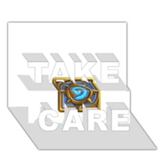Hearthstone Update New Features Appicon 110715 Take Care 3d Greeting Card (7x5)