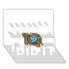 Hearthstone Update New Features Appicon 110715 You Did It 3d Greeting Card (7x5)