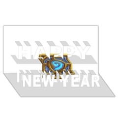 Hearthstone Update New Features Appicon 110715 Happy New Year 3d Greeting Card (8x4)
