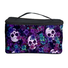 Flowers and Skulls Cosmetic Storage Case by Ellador