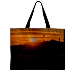 Aerial View Sunset Scene Of Montevideo Uruguay Zipper Tiny Tote Bags by dflcprints