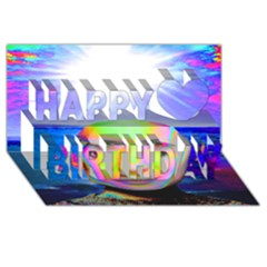Sunshine Illumination Happy Birthday 3d Greeting Card (8x4)