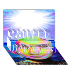 Sunshine Illumination You Are Invited 3d Greeting Card (7x5)  by icarusismartdesigns