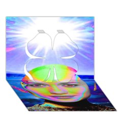 Sunshine Illumination Clover 3d Greeting Card (7x5)