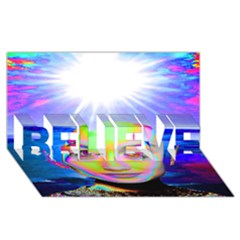 Sunshine Illumination Believe 3d Greeting Card (8x4)
