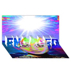 Sunshine Illumination Engaged 3d Greeting Card (8x4)  by icarusismartdesigns