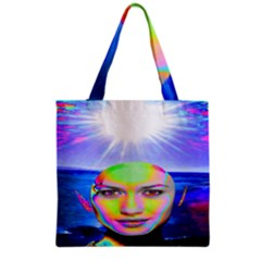 Sunshine Illumination Grocery Tote Bags by icarusismartdesigns