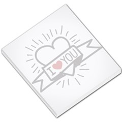 I Love You Small Memo Pad by typewriter