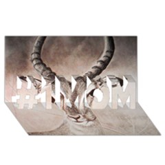 Antelope Horns #1 Mom 3d Greeting Cards (8x4)