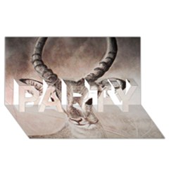 Antelope Horns Party 3d Greeting Card (8x4)  by TwoFriendsGallery