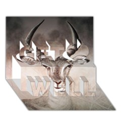 Antelope Horns Get Well 3d Greeting Card (7x5)  by TwoFriendsGallery