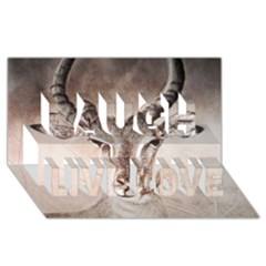 Antelope Horns Laugh Live Love 3d Greeting Card (8x4)