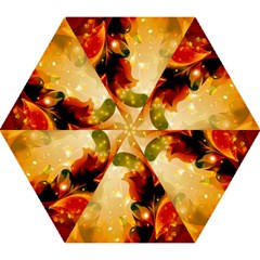 Awesome Colorful, Glowing Leaves  Mini Folding Umbrellas by FantasyWorld7