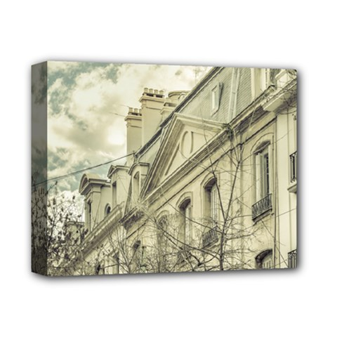 Neoclassical Style Buildings In Buenos Aires Argentina Deluxe Canvas 14  X 11