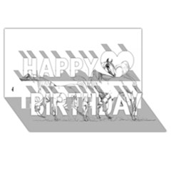 Logosquare Happy Birthday 3d Greeting Card (8x4)