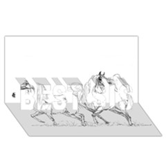 Logosquare Best Sis 3d Greeting Card (8x4)  by TwoFriendsGallery