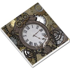 Steampunk, Awesome Clocks With Gears, Can You See The Cute Gescko Small Memo Pads by FantasyWorld7