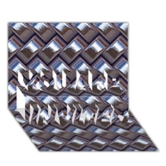 Metal Weave Blue You Are Invited 3d Greeting Card (7x5)