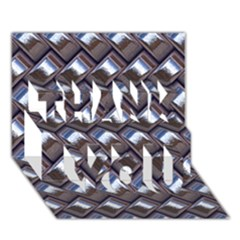 Metal Weave Blue Thank You 3d Greeting Card (7x5)