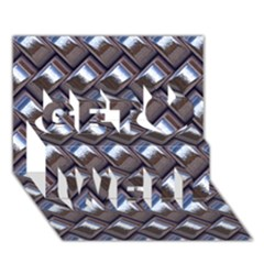 Metal Weave Blue Get Well 3d Greeting Card (7x5)