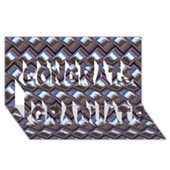 Metal Weave Blue Congrats Graduate 3d Greeting Card (8x4)  by MoreColorsinLife