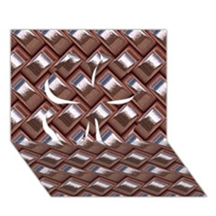 Metal Weave Pink Clover 3d Greeting Card (7x5)
