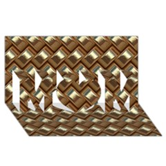 Metal Weave Golden Mom 3d Greeting Card (8x4)
