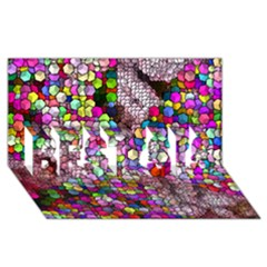 Artistic Cubes 3 BEST SIS 3D Greeting Card (8x4)  by MoreColorsinLife