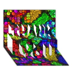 Artistic Cubes 4 Thank You 3d Greeting Card (7x5)