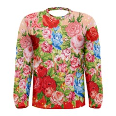 Pretty Sparkly Roses Men s Long Sleeve T-shirts