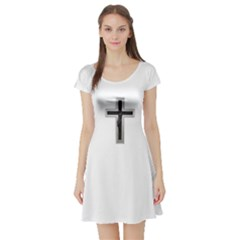Christian Cross Short Sleeve Skater Dress by igorsin