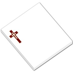 Red Christian Cross Small Memo Pads by igorsin