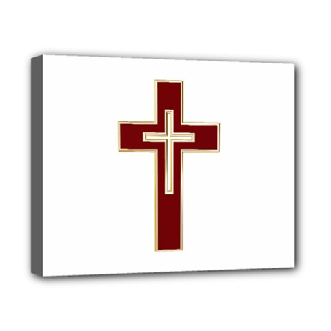Red Christian Cross Canvas 10  X 8  (stretched) by igorsin