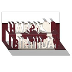 Style 4 Happy Birthday 3d Greeting Card (8x4)  by TheGreatNorth