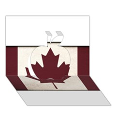 Style 4 Apple 3d Greeting Card (7x5)  by TheGreatNorth