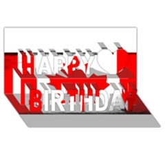 Style 6 Happy Birthday 3D Greeting Card (8x4)