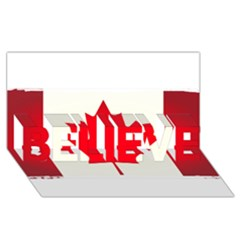 Style 7 Believe 3d Greeting Card (8x4)