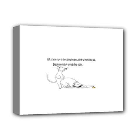 Better To Take Time To Think Deluxe Canvas 14  X 11  by mouse