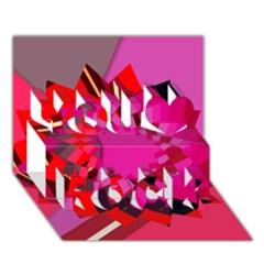 Geo Fun 11 You Rock 3d Greeting Card (7x5)  by MoreColorsinLife