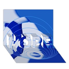 Geo Fun 14 Hope 3d Greeting Card (7x5)