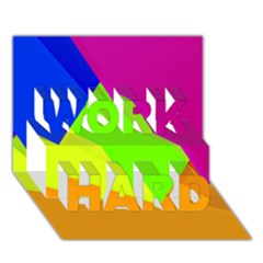 Geo Fun 15 Work Hard 3d Greeting Card (7x5)