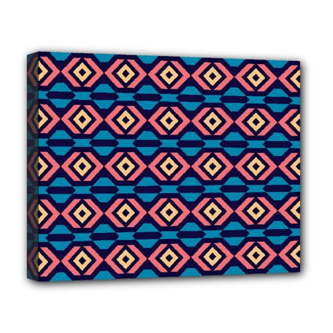 Rhombus  Pattern Deluxe Canvas 20  X 16  (stretched) by LalyLauraFLM