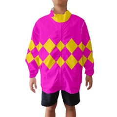 Yellow Pink Shapes Wind Breaker (kids)