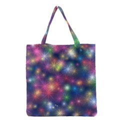 Sparkling Lights Pattern Grocery Tote Bags by LovelyDesigns4U