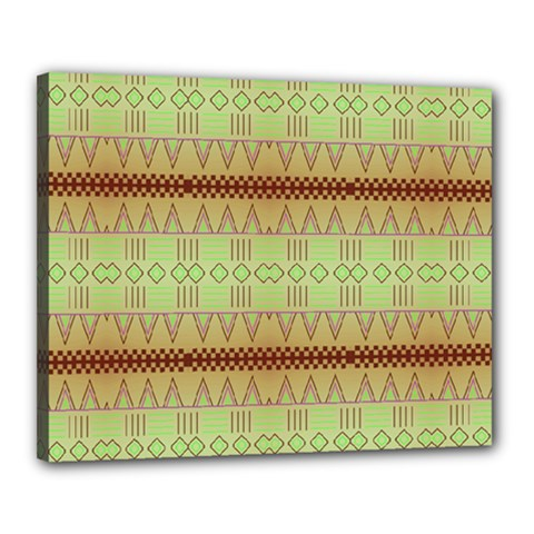 Aztec Pattern Canvas 20  X 16  (stretched) by LalyLauraFLM