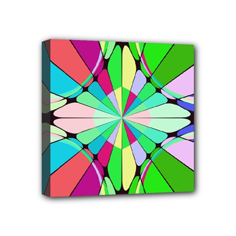 Distorted Flower Mini Canvas 4  X 4  (stretched) by LalyLauraFLM