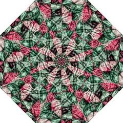 Luxury Grunge Digital Pattern Hook Handle Umbrellas (medium) by dflcprints